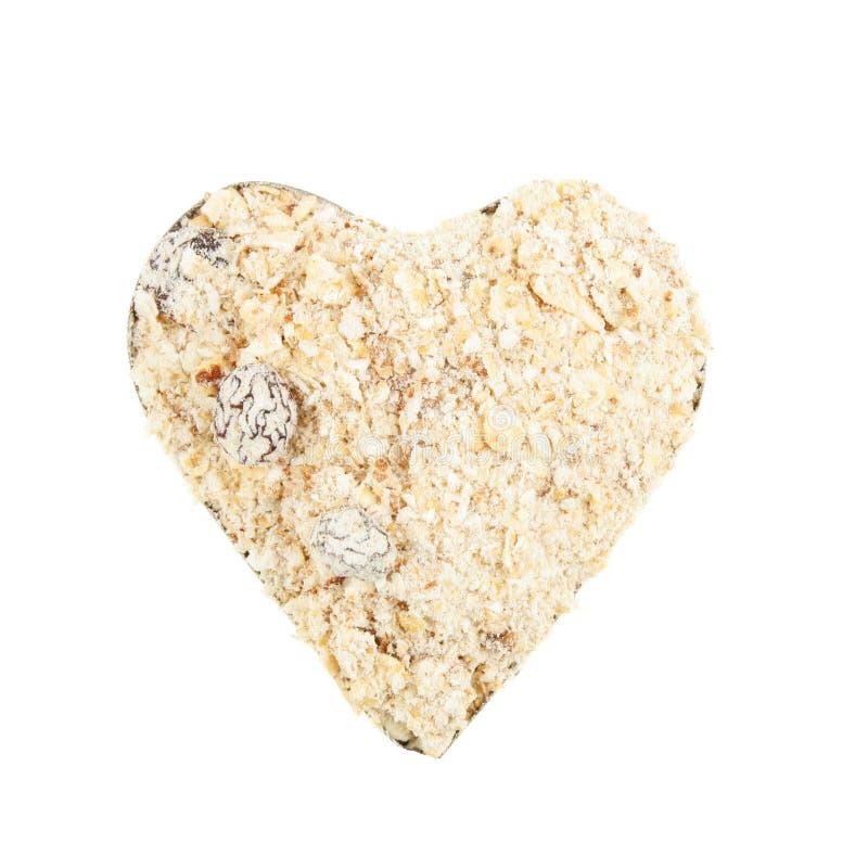 Coeur de Muesli image libre de droits