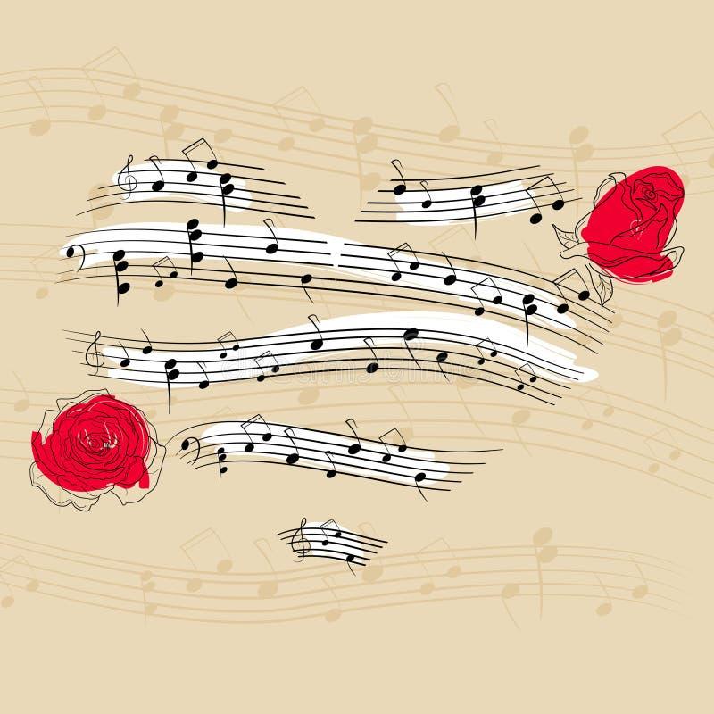 Coeur de musique illustration stock