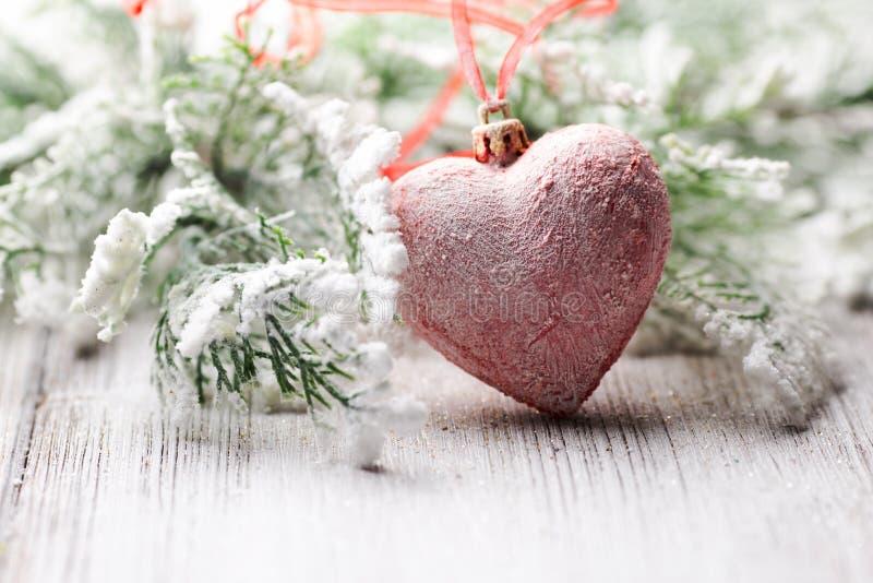 Coeur de Noël. image libre de droits