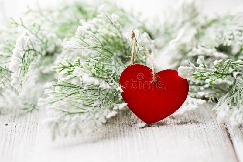 Coeur de Noël. photographie stock libre de droits