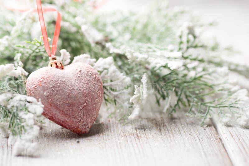 Coeur de Noël. image stock