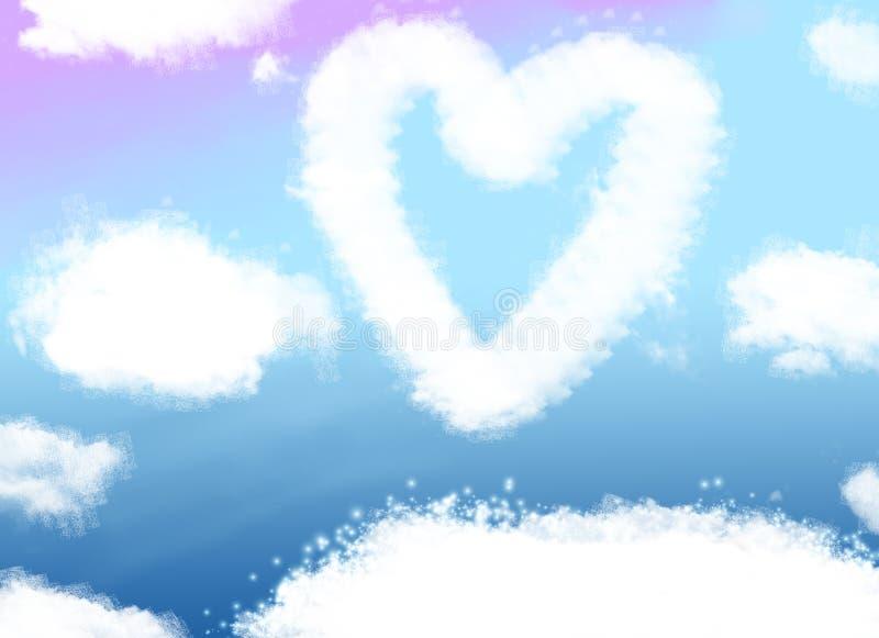 coeur de nuage illustration de vecteur