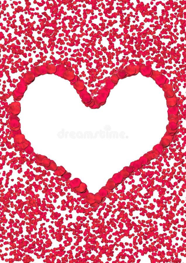 Coeur de pétale de Rose illustration stock