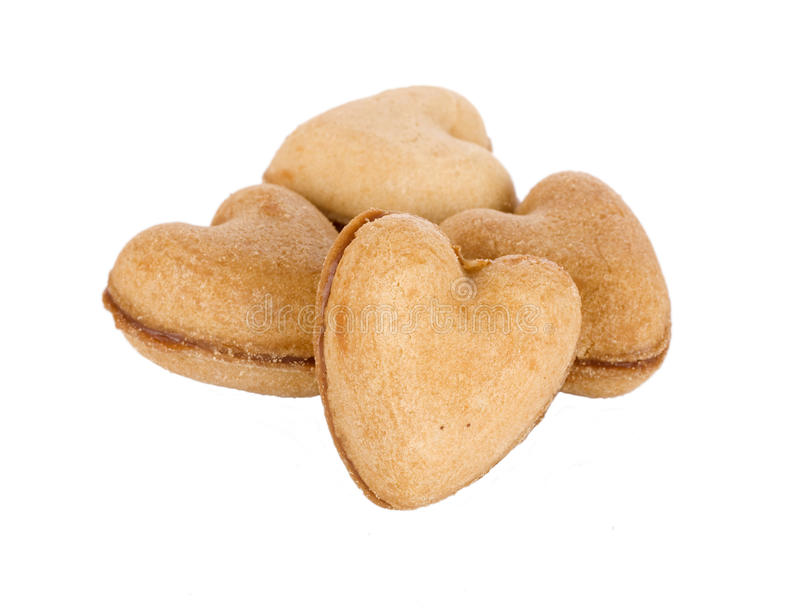 Coeur de pain d'épice photographie stock libre de droits