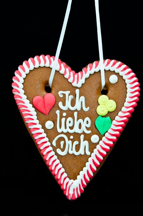 Coeur de pain d'épice d'Oktoberfest photo libre de droits