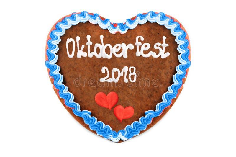 Coeur 2018 de pain d'épice d'Oktoberfest Angleterre Festival Munic d'octobre images stock