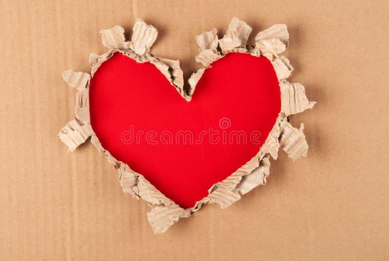 Coeur de papier déchiré photo libre de droits