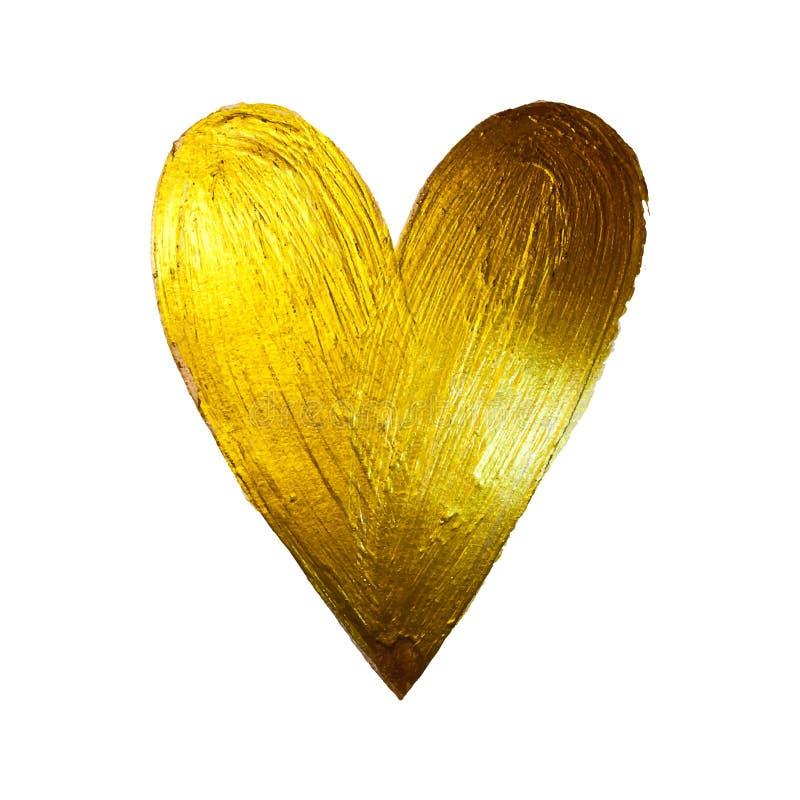 Coeur de peinture d'aluminium de vecteur sur le fond blanc Jour heureux de Valintinas de conception de l'avant-projet d'amour Fac illustration libre de droits