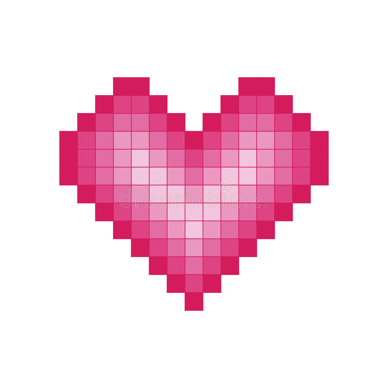 Coeur de Pixel illustration libre de droits