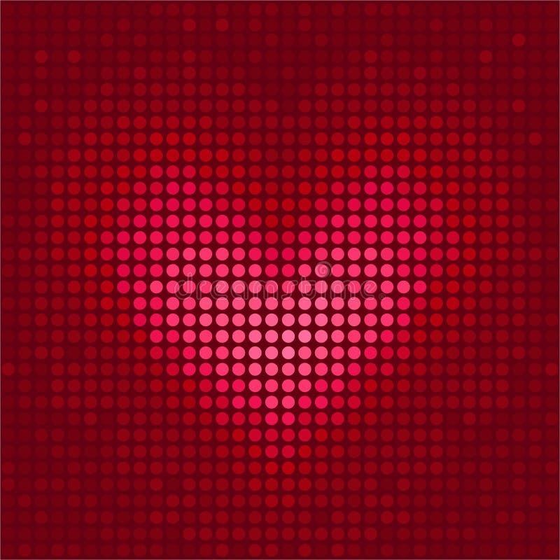 Coeur de pixel illustration stock