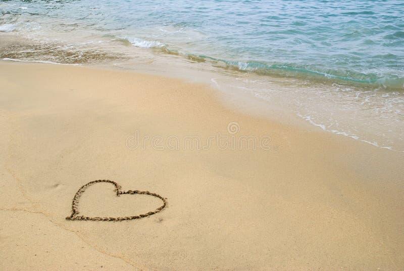 coeur de plage photo stock