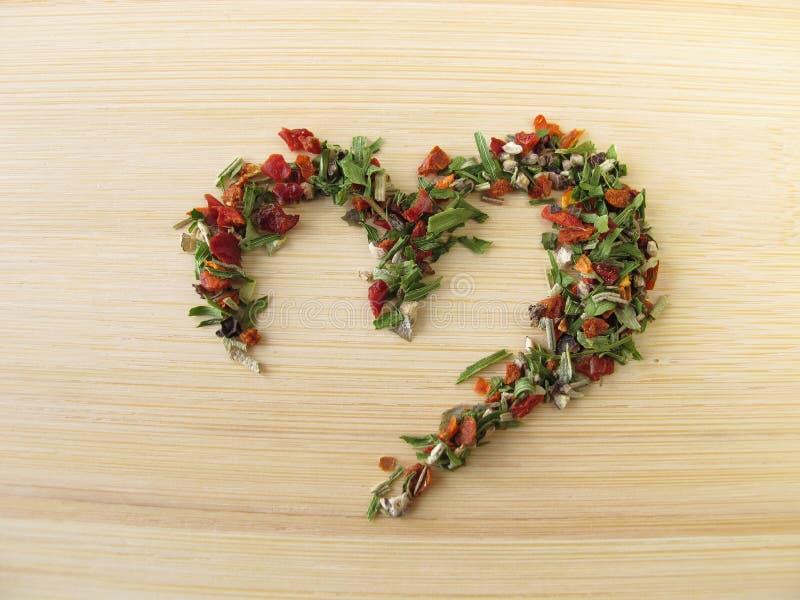 Coeur de poivre d'herbe images libres de droits