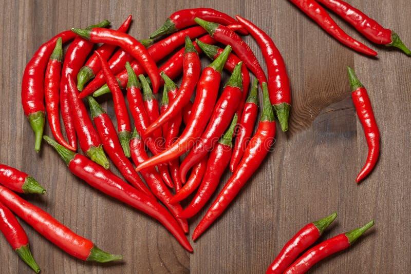 Coeur de poivre de piment photos stock