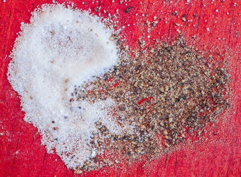 Coeur de poivre de sel photo stock