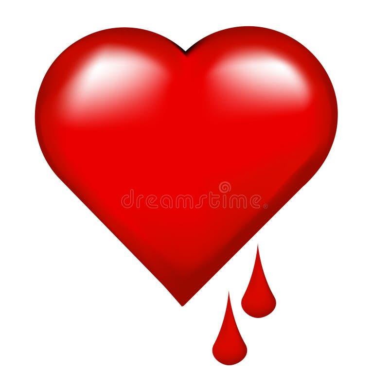 Coeur de purge illustration stock