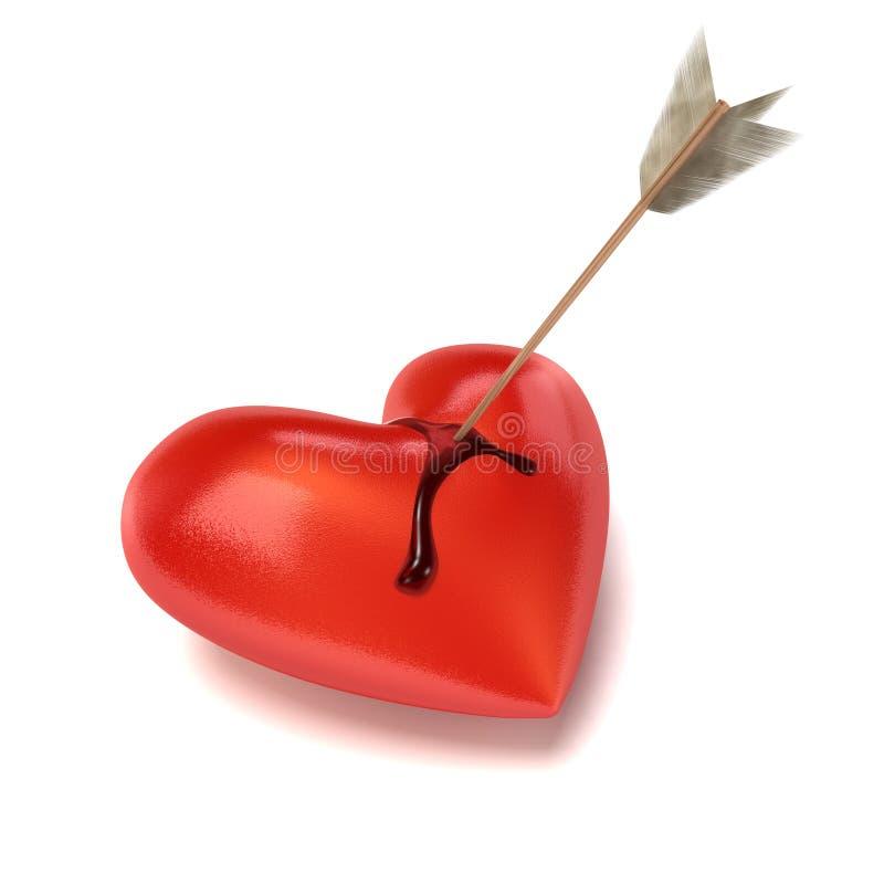 Coeur de purge avec la flèche. illustration libre de droits