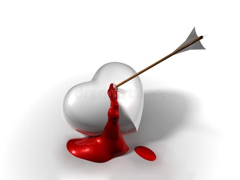 Coeur de purge cassé illustration de vecteur