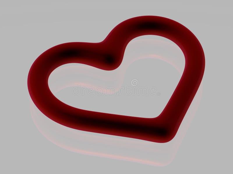 Coeur de purge - d'isolement - 3D illustration de vecteur