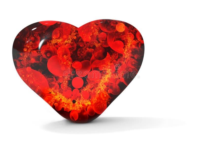 Coeur de purge noir illustration libre de droits