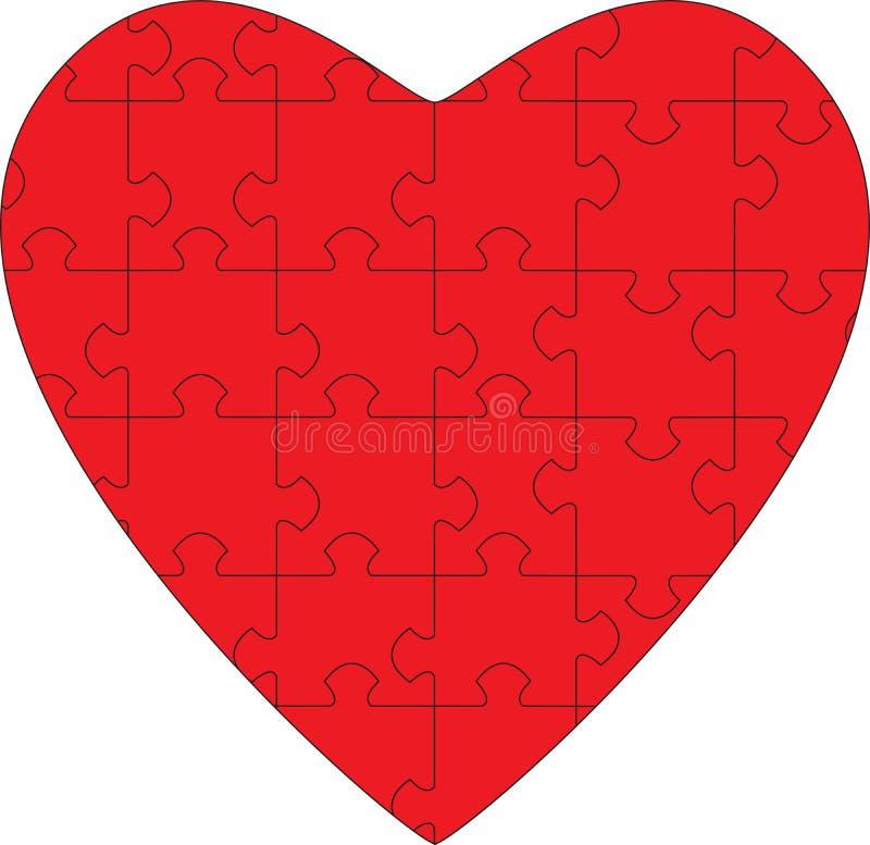 Coeur de puzzle illustration stock