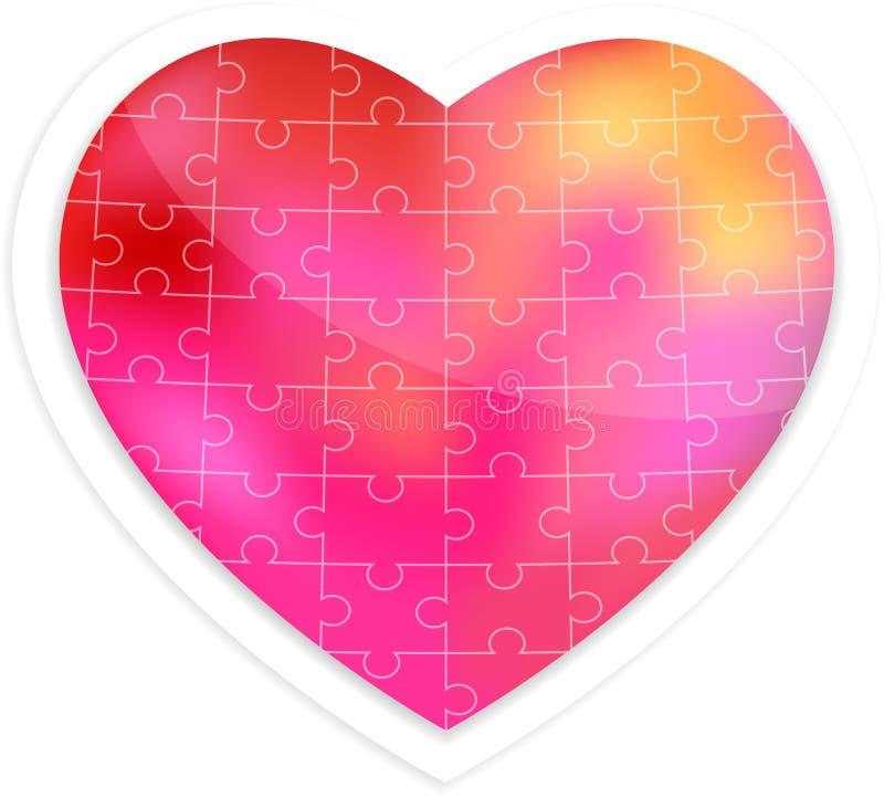 Coeur de puzzle illustration libre de droits