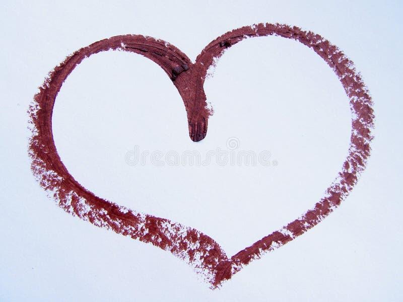 Coeur de rouge à lievres image libre de droits