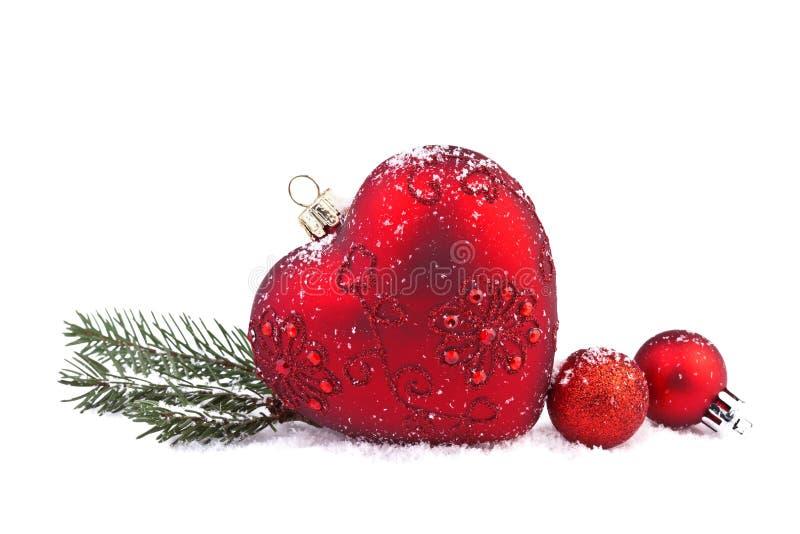 Coeur de rouge de Noël images libres de droits