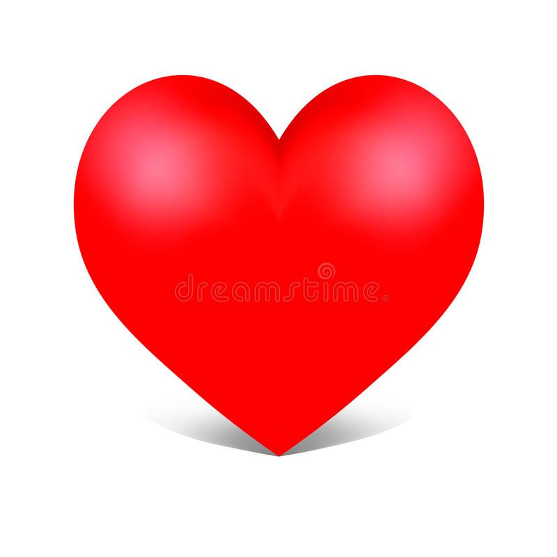 Coeur de rouge de vecteur illustration stock