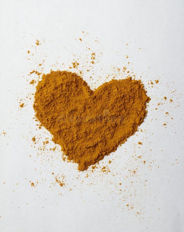 Coeur de safran des indes photos stock