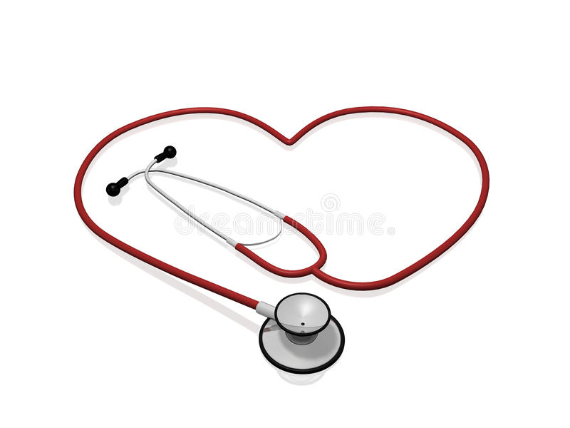 Coeur de stéthoscope illustration libre de droits