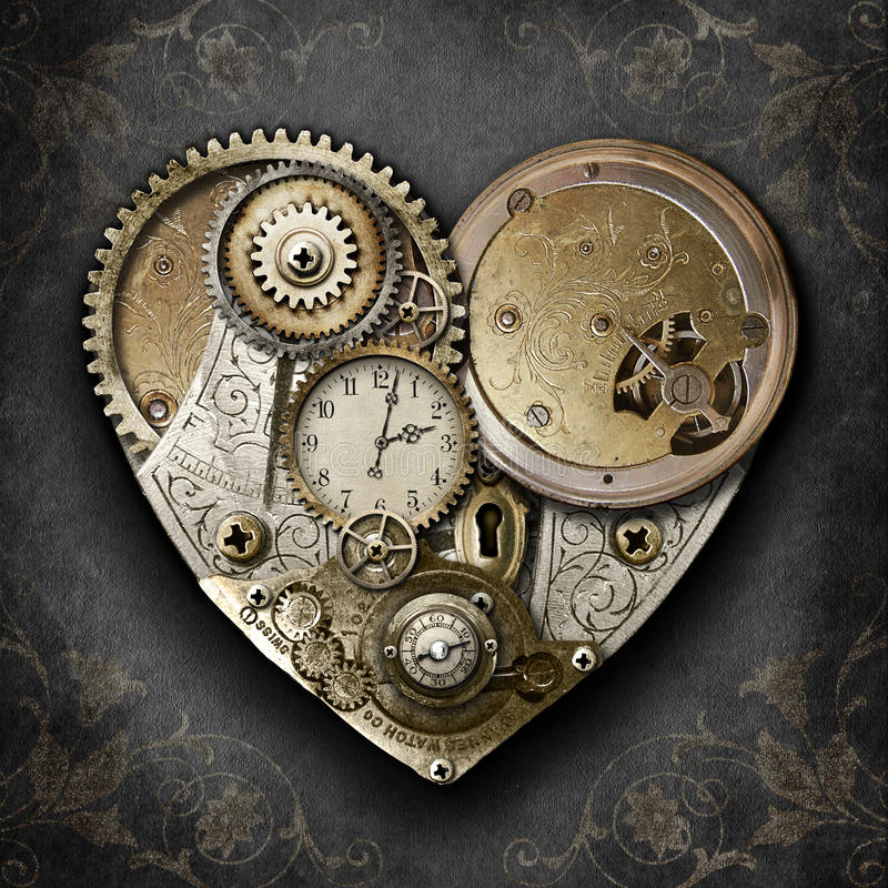 Coeur de Steampunk photographie stock