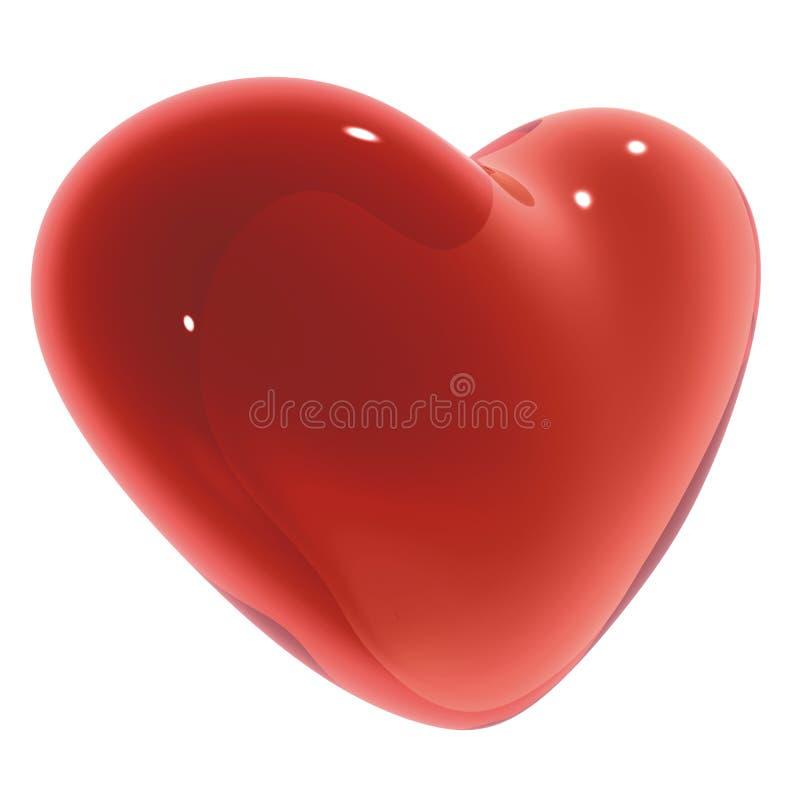 Coeur de sucrerie illustration de vecteur