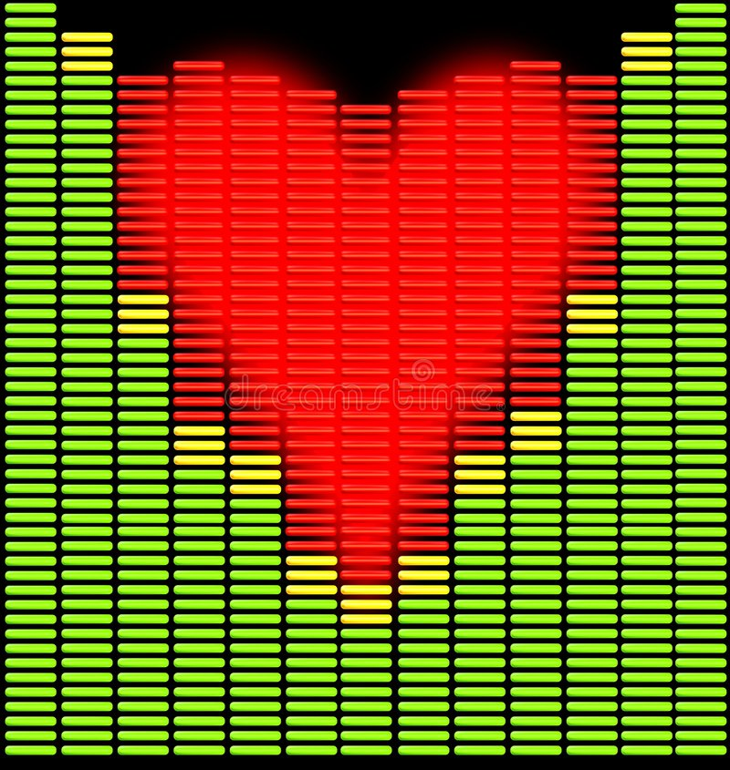 Coeur de Techno illustration libre de droits
