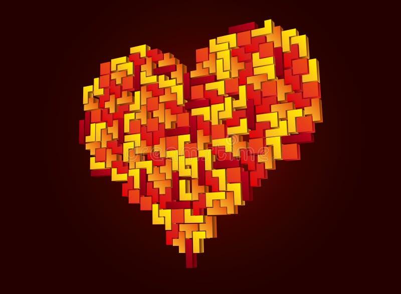Coeur de Tetris illustration de vecteur