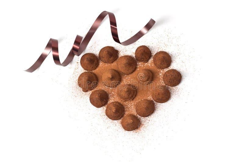 Coeur de truffe image stock