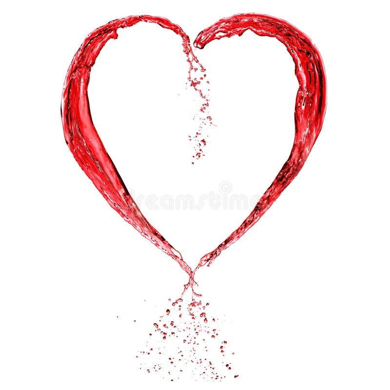Coeur de Valentine fait de vin rouge photographie stock