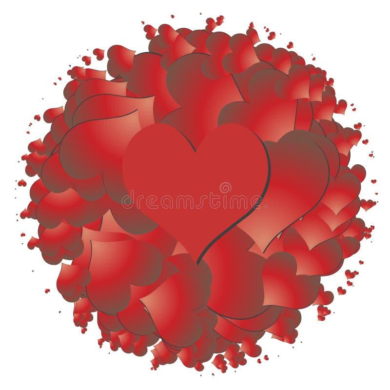Coeur de vecteur - symbole de l'amour illustration stock