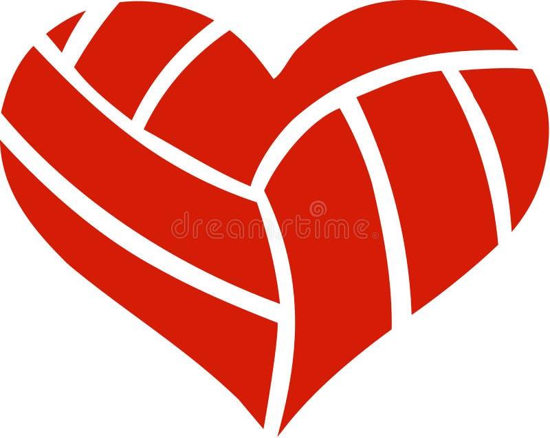 Coeur de volleyball illustration stock