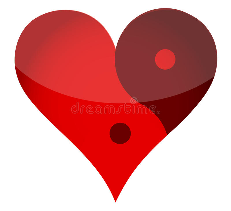 Coeur de Yin yan illustration libre de droits
