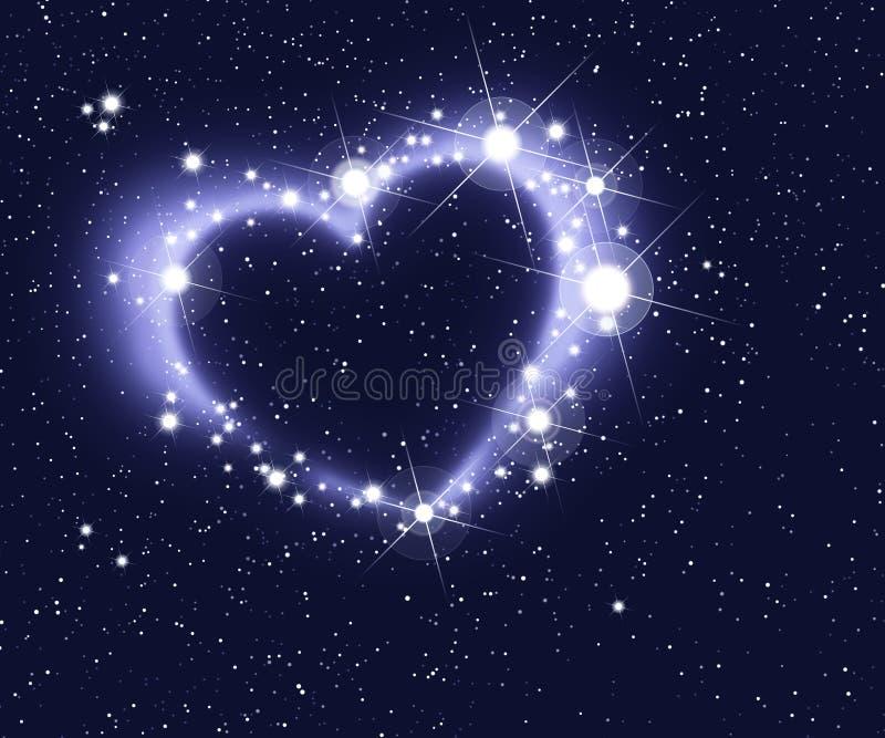 Coeur des étoiles illustration libre de droits