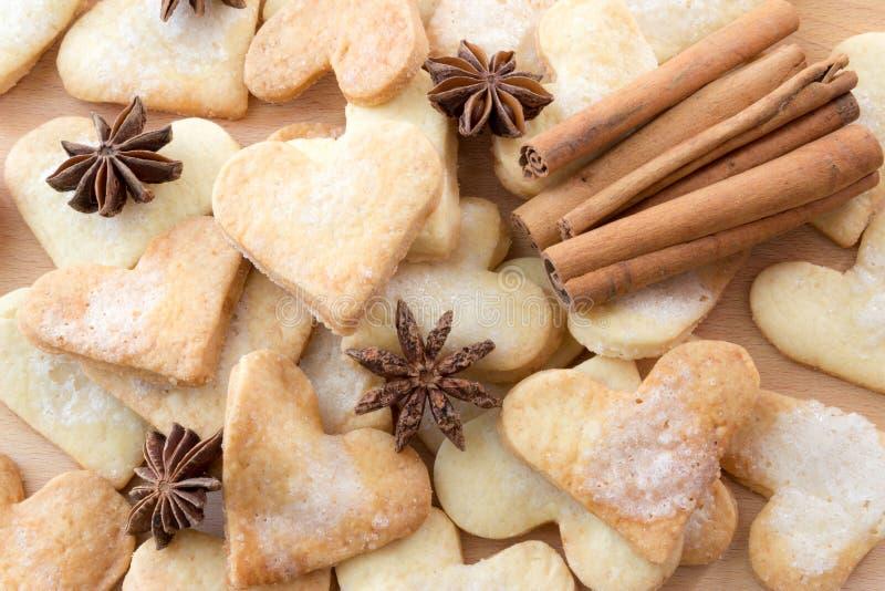 Coeur des biscuits photographie stock libre de droits