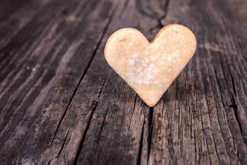 Coeur des biscuits photo libre de droits