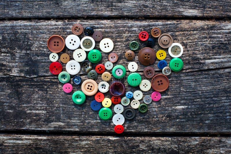 Coeur des boutons photographie stock
