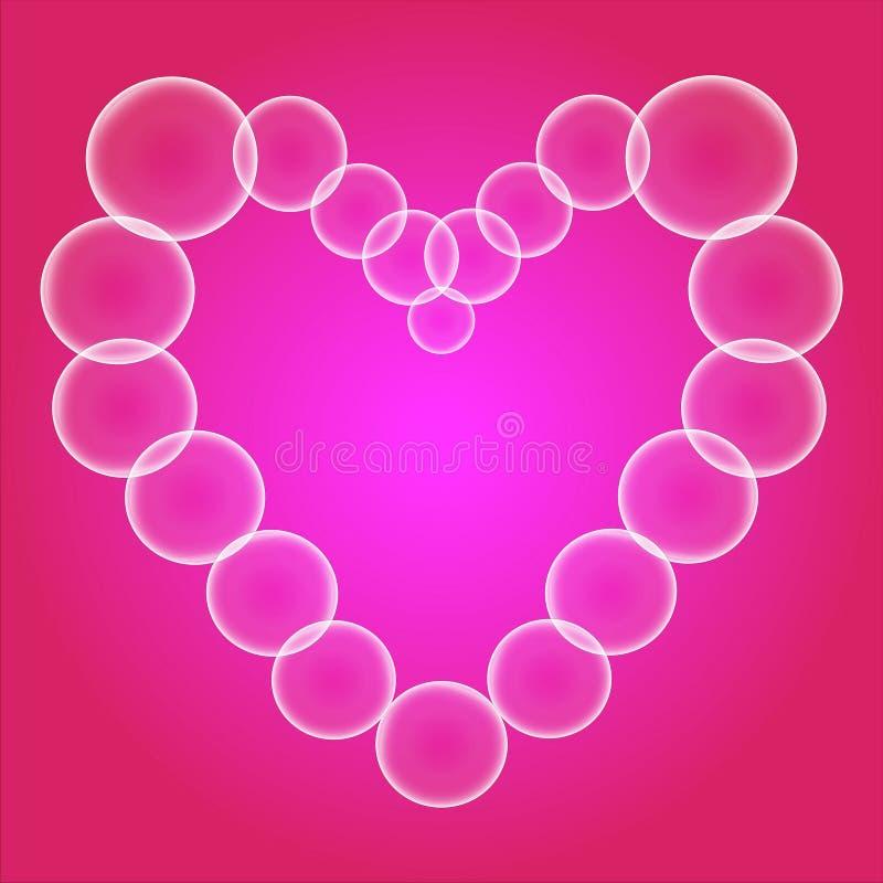 Coeur des bulles de savon illustration libre de droits