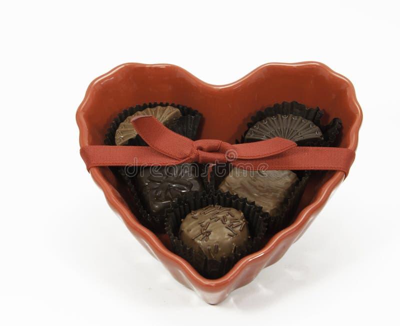Coeur des chocolats image libre de droits