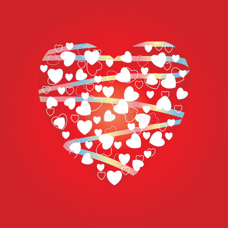 Coeur des coeurs illustration de vecteur
