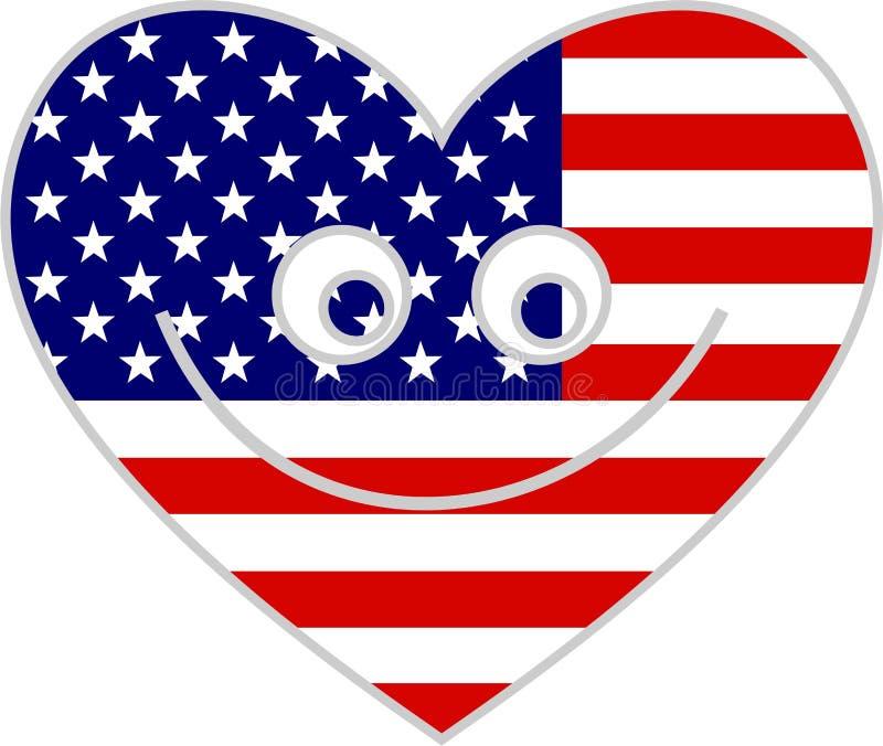 Coeur des Etats-Unis illustration libre de droits