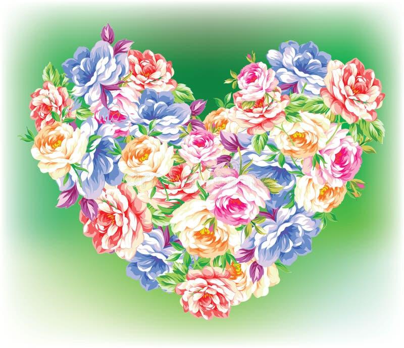 Coeur des fleurs illustration libre de droits