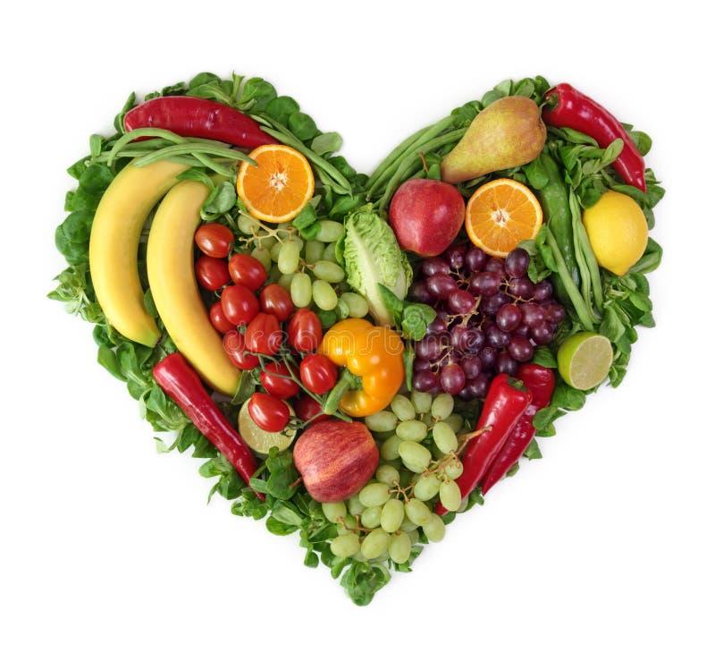 Coeur des fruits et légumes photos stock
