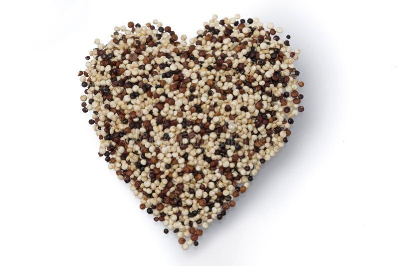 Coeur des graines de quinoa photos stock